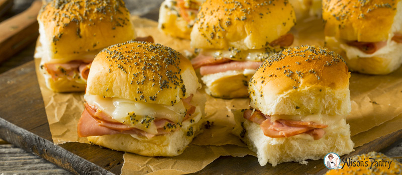 December meal of the month holiday ham cheese sliders alisons holiday ham cheese sliders forumfinder Image collections
