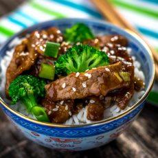 skillet mongolian beef & broccoli
