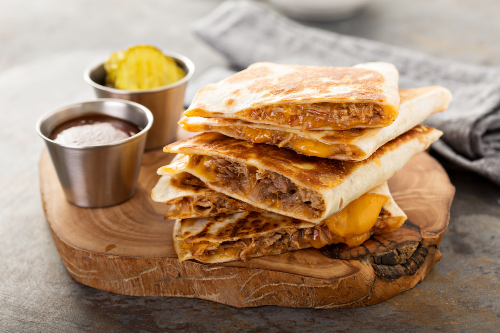 Slow Cooker Sweet Pork Quesadillas