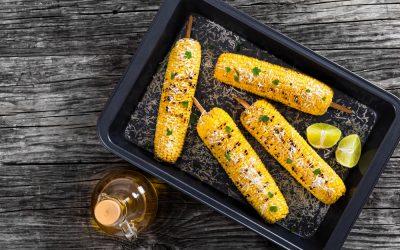 Olive Oil Parmesan Grilled Corn