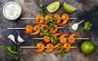 Shrimp with Garlic-Cilantro Sauce