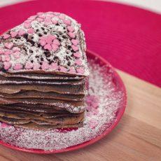 Chocolate Heart Pancakes
