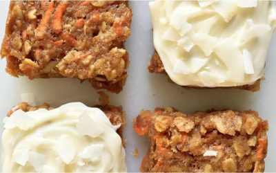 Carrot Cake Oatmeal Bars