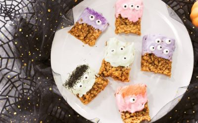 Peanut Butter Rice Krispy Monster Treats