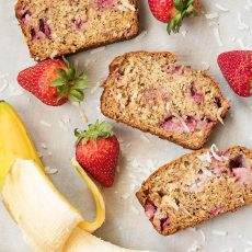 Strawberry Coconut Banana Bread