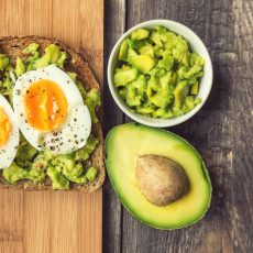 diced avocado toast