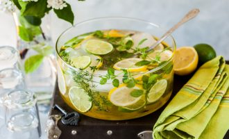 fresh lemon lime thyme lemonade