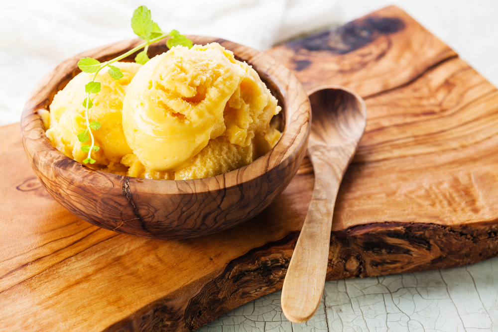 2 ingredient mango sorbet
