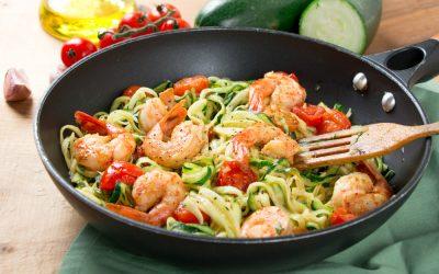15 Minute Garlic Shrimp Zoodles