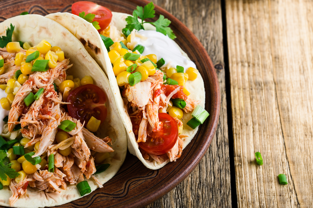 3 ingredient slow cooker taco chicken