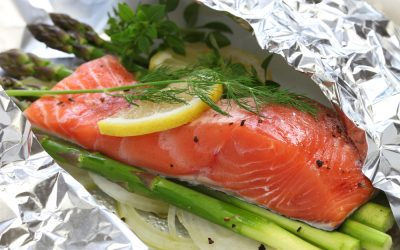 Lemon Dill Salmon and Asparagus Foil Packet