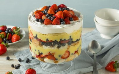Red, White and Berry Trifle