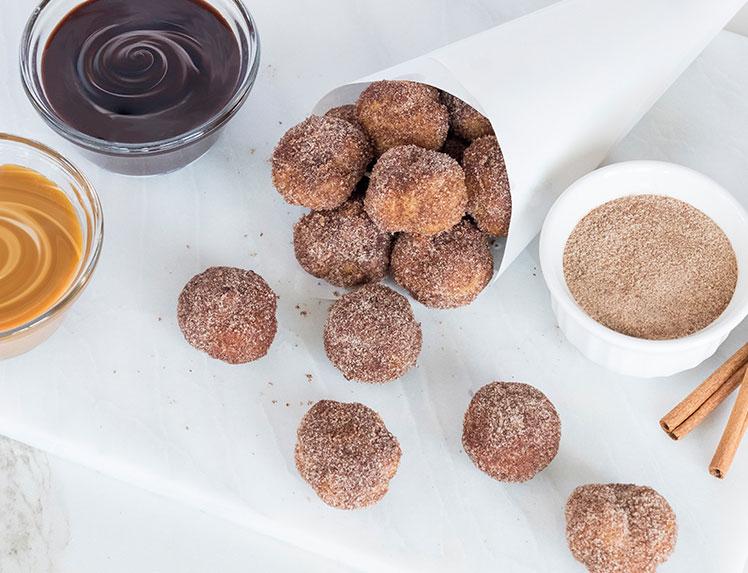 churro cream puffs