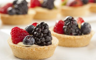 Fruit Tarts with a Cheesecake Filling