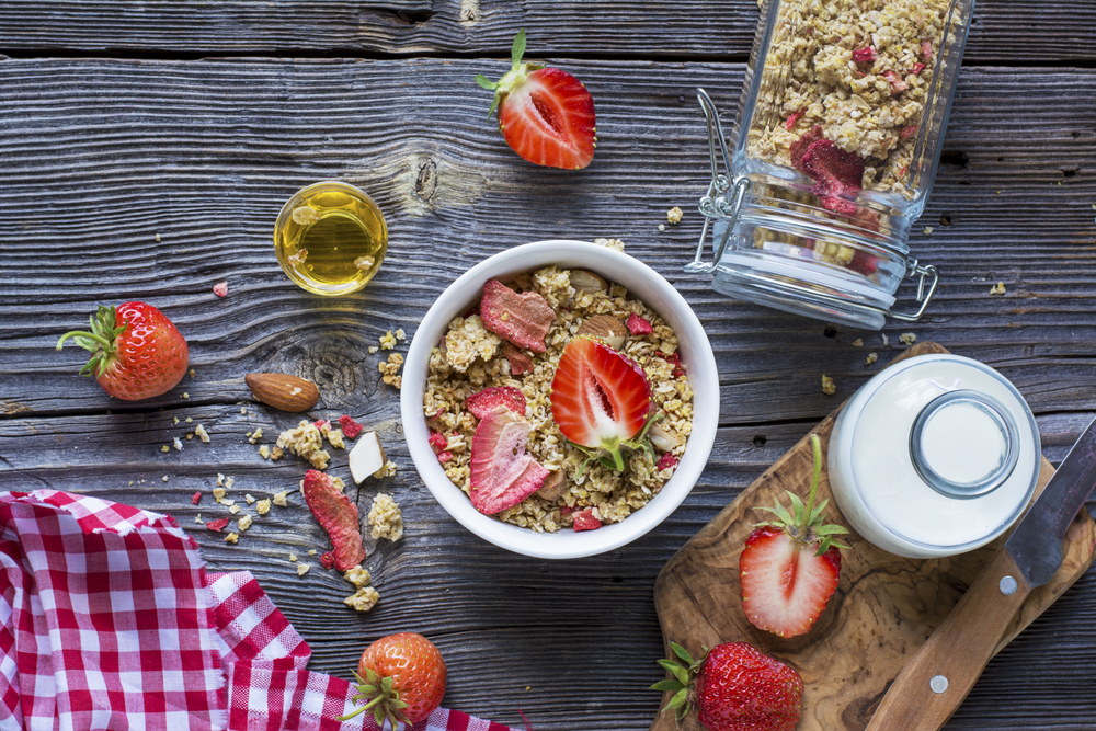 strawberry coconut granola