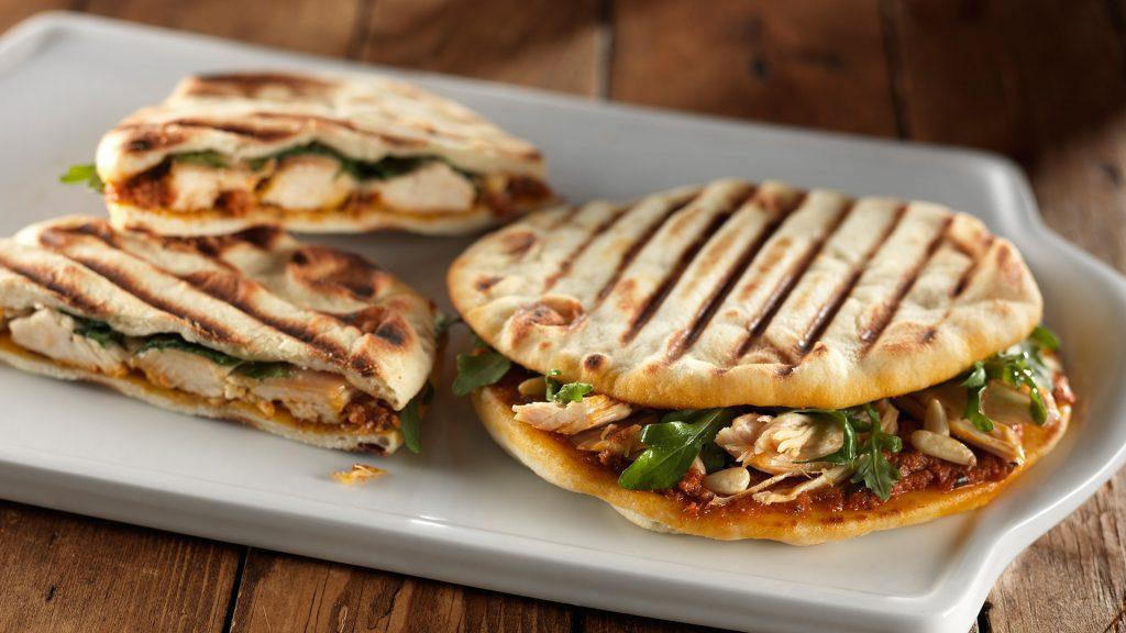 roasted chicken and arugula panini