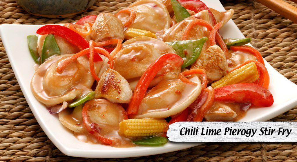 Chili Lime Pierogy Stir Fry
