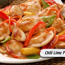Chili Lime Pierogy Stir Fry