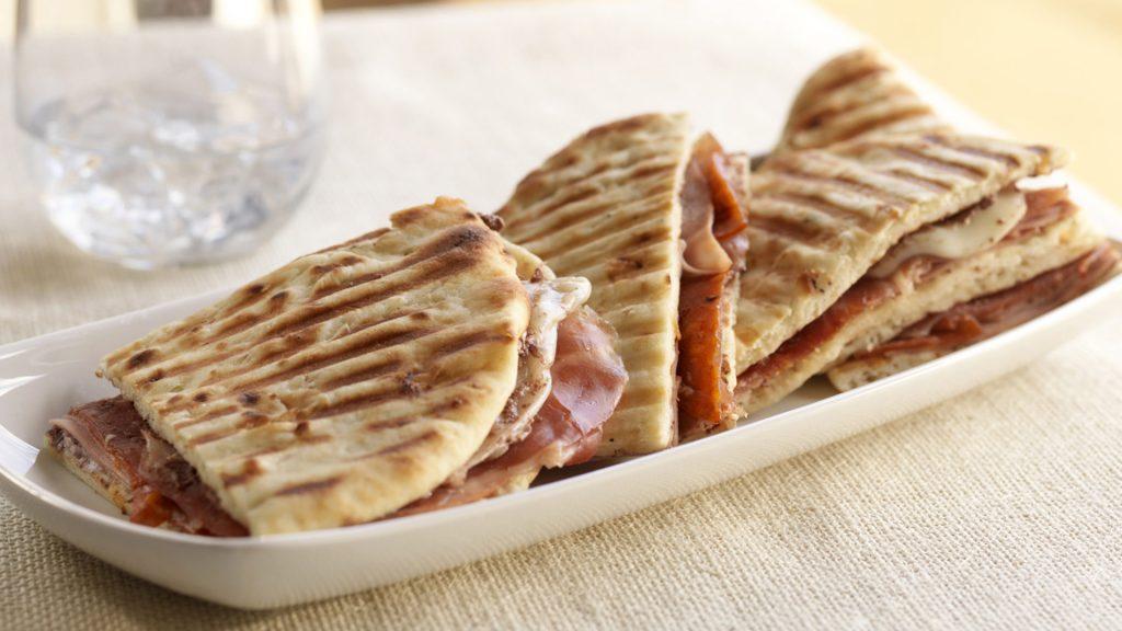 Italian Ham Naan Panini