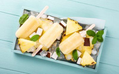 Pineapple Coconut Ice Pops