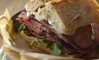 Roast Beef Onion Marmalade Sandwich