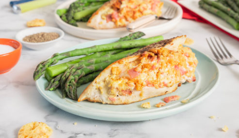 Ham and Asiago-Stuffed Chicken Breasts