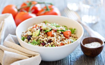 True Lemon Basil Quinoa Salad