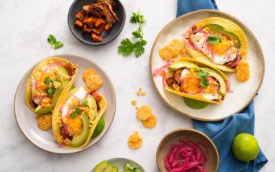 Sweet Potato-Bacon Breakfast Tacos