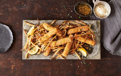 Garlicky Ultimate Fish Sticks & Frites