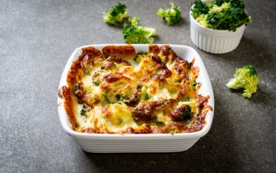 Keto Cauliflower and Broccoli Gratin