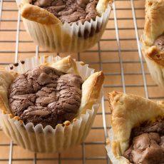 mini fudge rustic tarts
