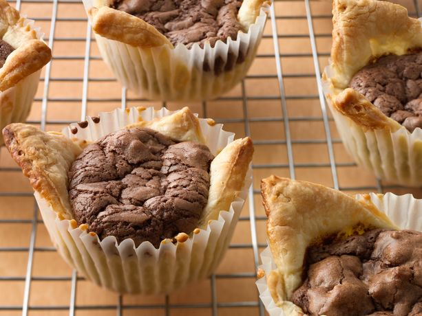 mini fudge rustic tarts