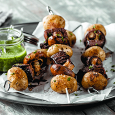 Steak & Potato Skewers with Chimichurri