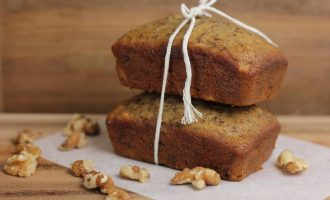 banana walnut mini loaves