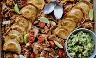 CHICKEN FAJITA PIEROGY SHEET PAN
