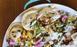 Grilled Spicy Pierogy Mexican Street Corn