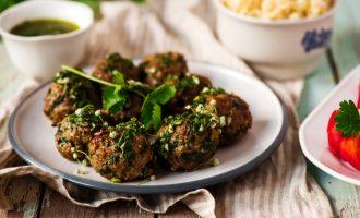 chimichurri meatballs