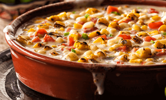 flame roasted corn jalapeno queso