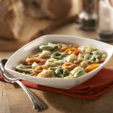 Cheese Tortellini and white Bean Soup