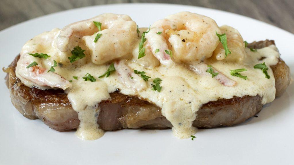 Creamy Garlic Shrimp and Steak