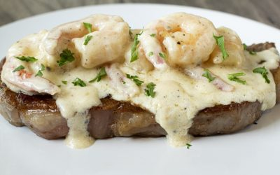 Creamy Garlic Shrimp & Steak