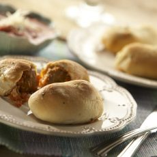 Italian Style Meatball Stuffed Garlic Knots