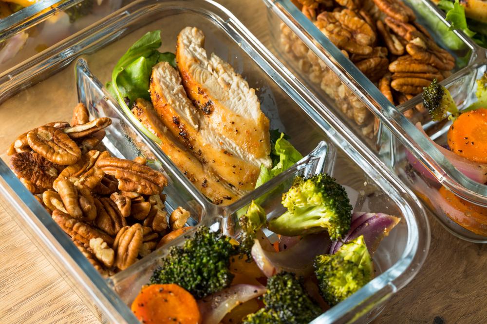 Keto Sheet Pan Chicken & Veggies meal prep