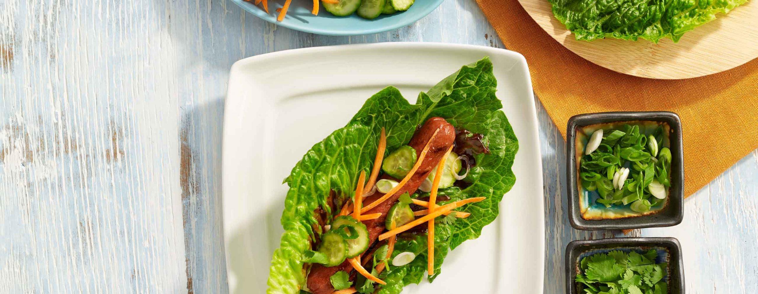 Korean Beef Frank Lettuce Wraps