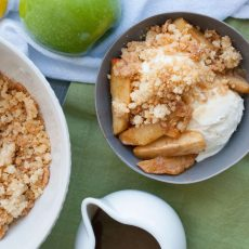 Salted Caramel Apple Pie Sundaes