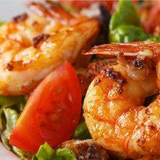 Sauteed Shrimp Tossed w/Tomatoes & Tarragon Salad