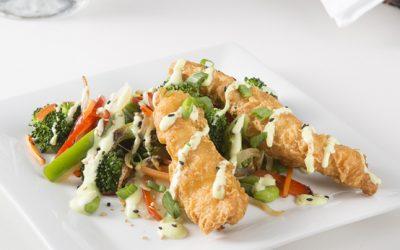 Tempura Chicken w/ Vegetable Stir-Fry