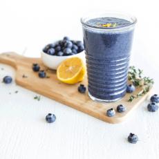 Blueberry Lemon Thyme Smoothie