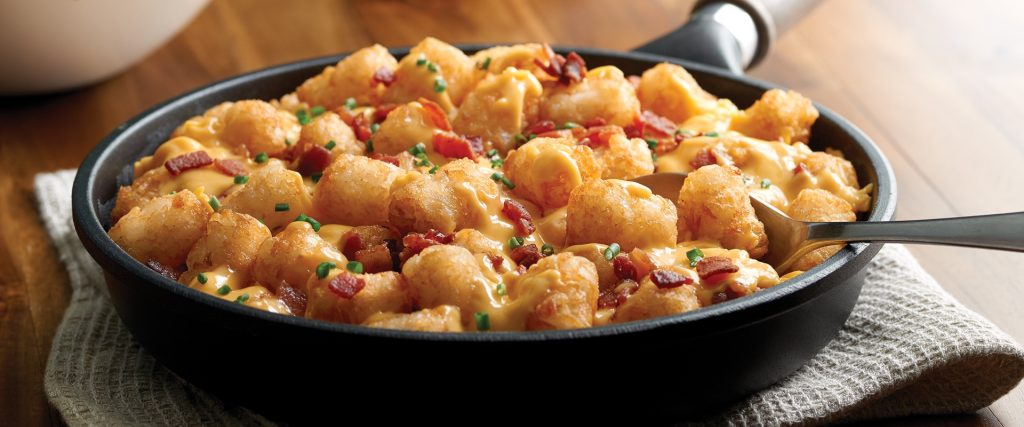 cheesy bacon tots