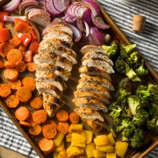 keto sheet pan chicken & veggies